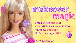 Barbie Makeover Magic играть онлайн